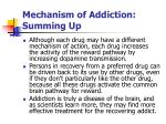 mechanism of addiction summing up