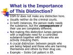 what is the importance of this distinction
