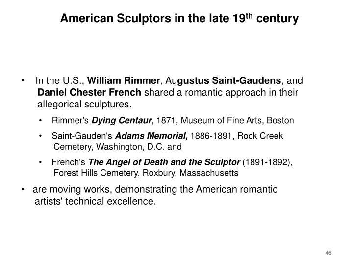 American Sculptors in the late 19