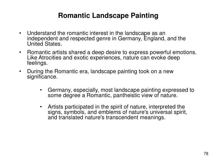 Romantic Landscape Painting