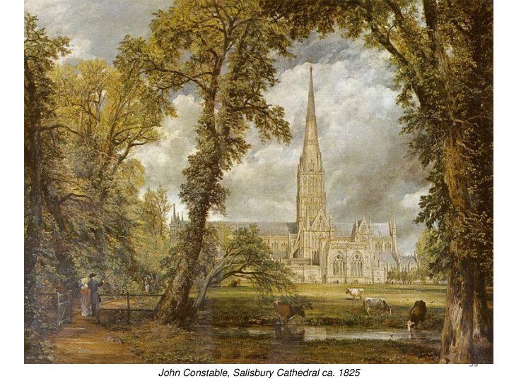 John Constable, Salisbury Cathedral ca. 1825