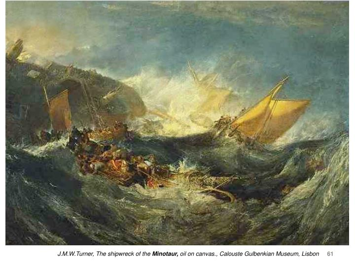 J.M.W.Turner, The shipwreck of the