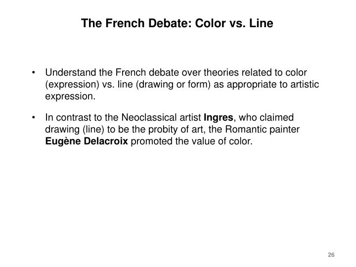The French Debate: Color vs. Line