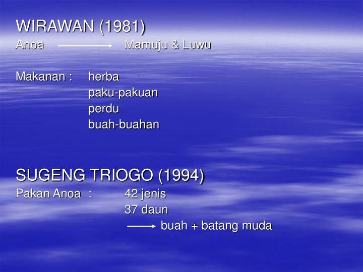 WIRAWAN (1981)