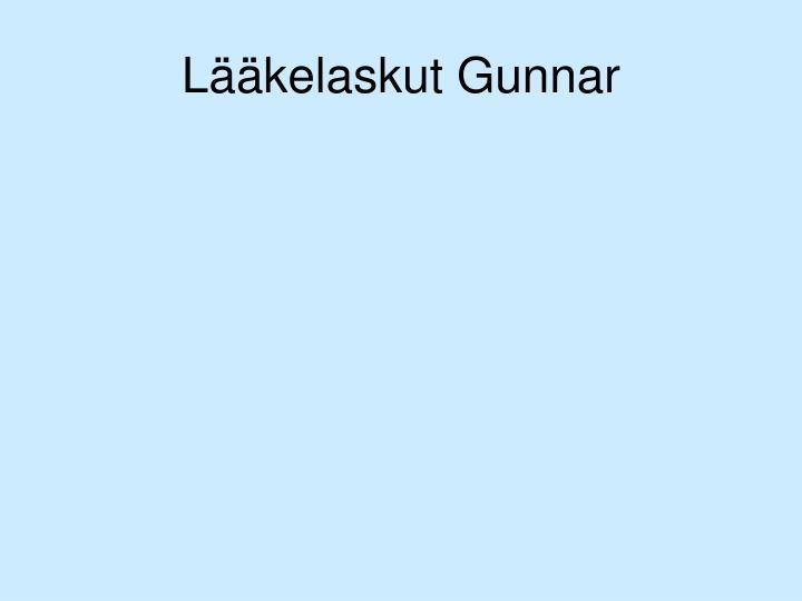 Lääkelaskut Gunnar