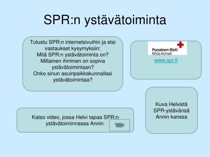 SPR:n ystävätoiminta