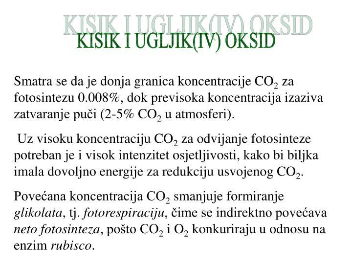 KISIK I UGLJIK(IV) OKSID