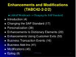 enhancements and modifications tabc42 2 2 2
