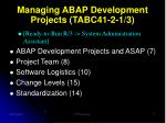 managing abap development projects tabc41 2 1 3