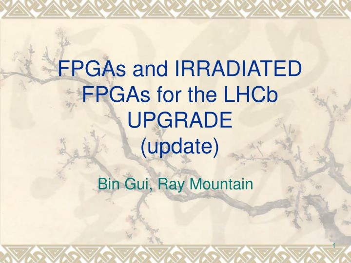 Fpgas and irradiated fpgas for the lhcb upgrade update