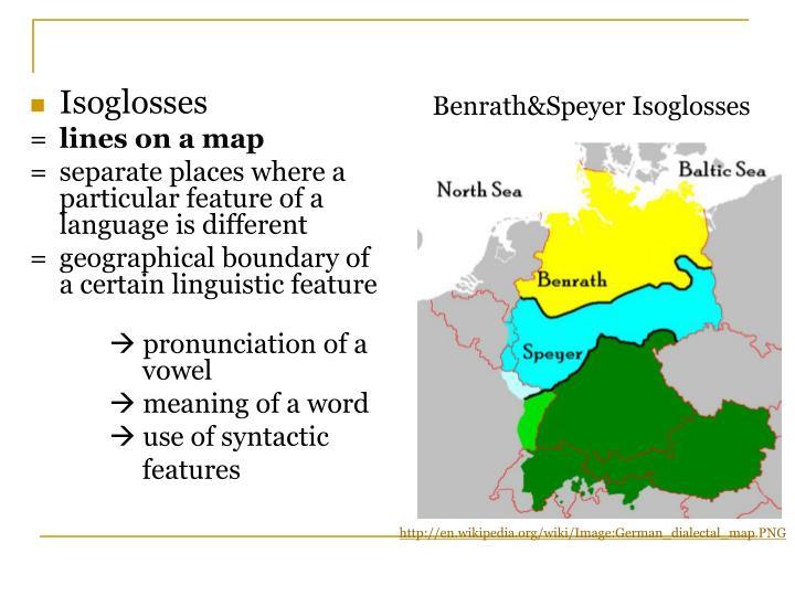 Isoglosses
