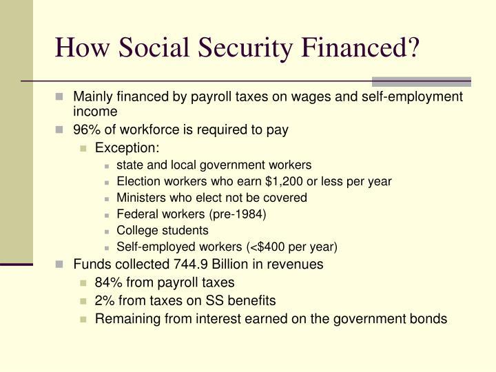 How Social Security Financed?