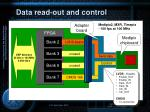 data read out and control