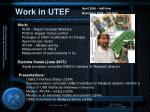work in utef