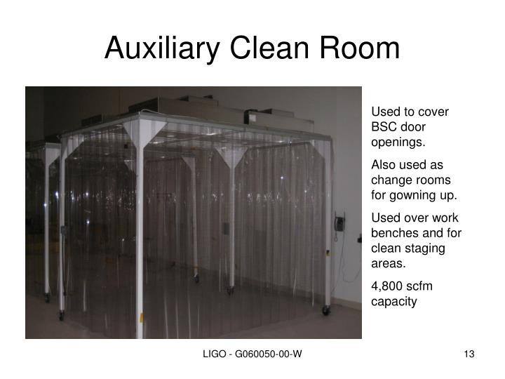 Auxiliary Clean Room