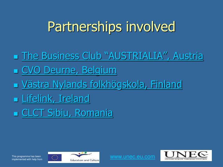 Partnerships involved