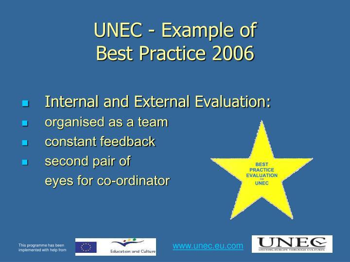 Unec example of best practice 2006