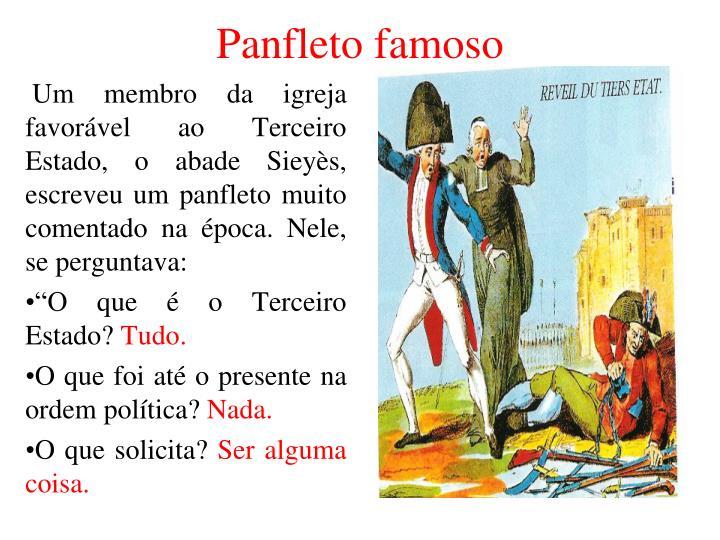 Panfleto famoso