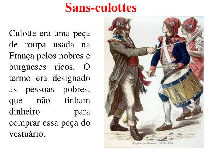 Sans-culottes