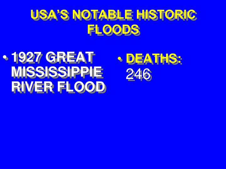 1927 GREAT MISSISSIPPIERIVER FLOOD