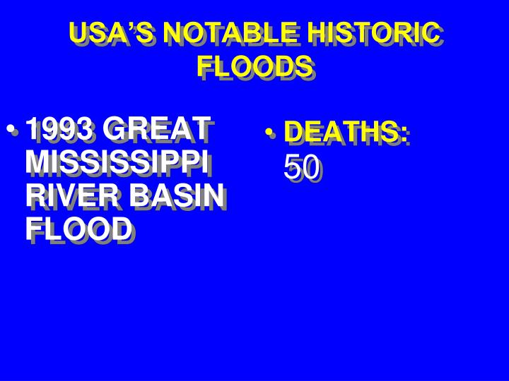 1993 GREAT MISSISSIPPI RIVER BASIN FLOOD