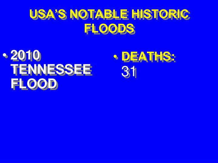2010 TENNESSEE FLOOD