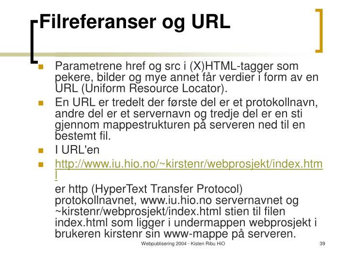 Filreferanser og URL