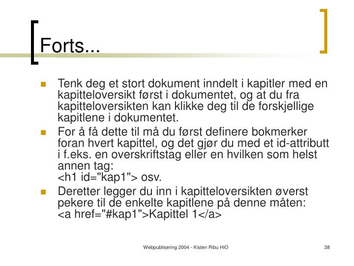 Forts...