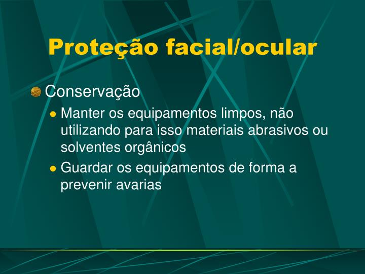 Proteção facial/ocular