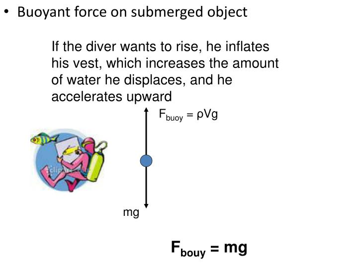If the diver wants to rise, he inflates