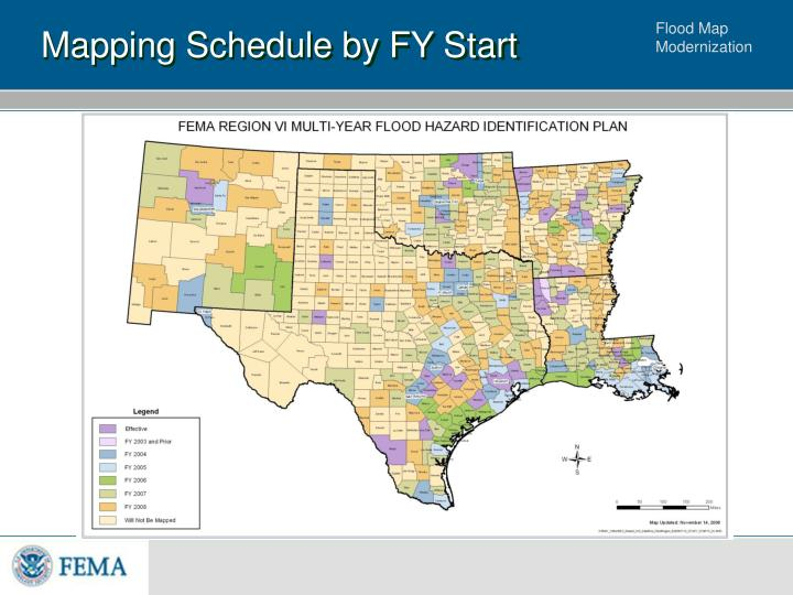 Mapping Schedule by FY Start