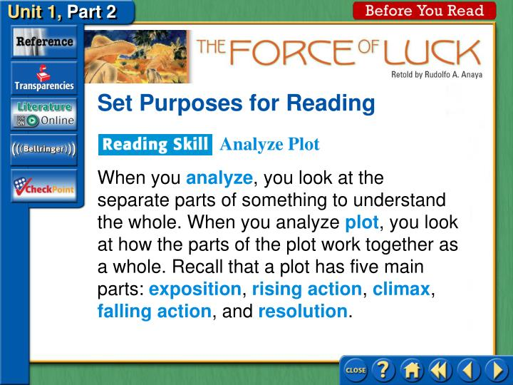 Set Purposes for Reading