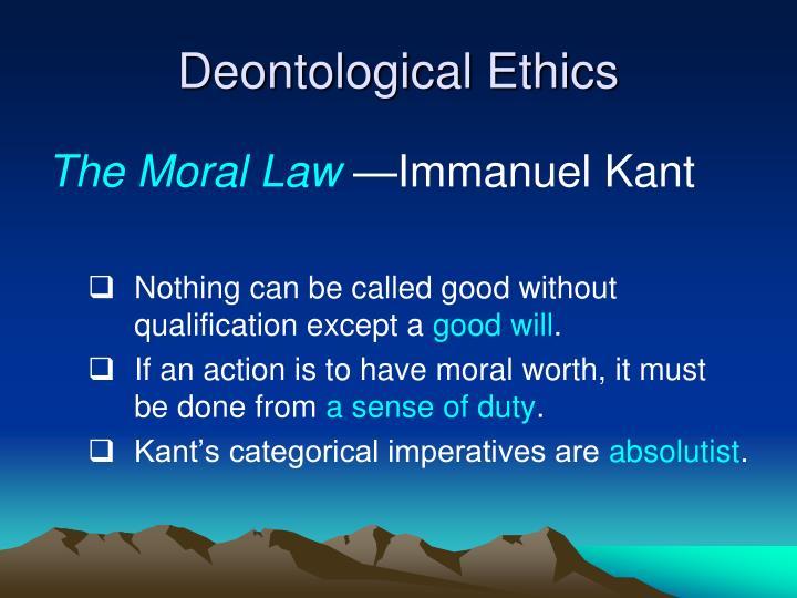 Deontological ethics1