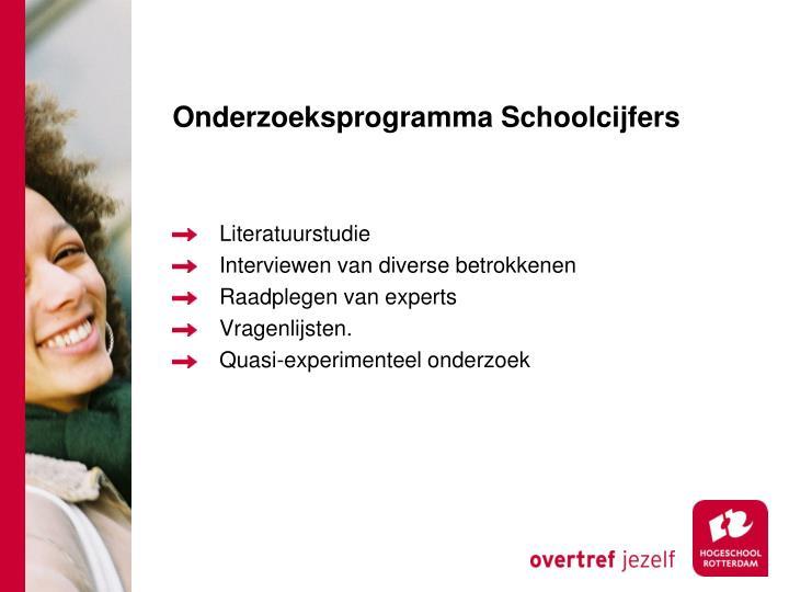 Onderzoeksprogramma Schoolcijfers
