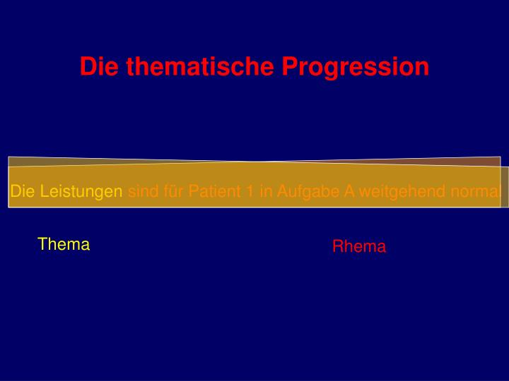 Die thematische Progression