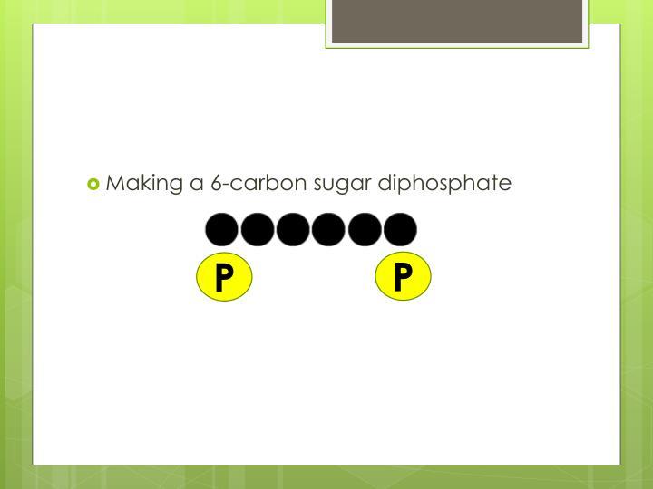 Making a 6-carbon sugar diphosphate