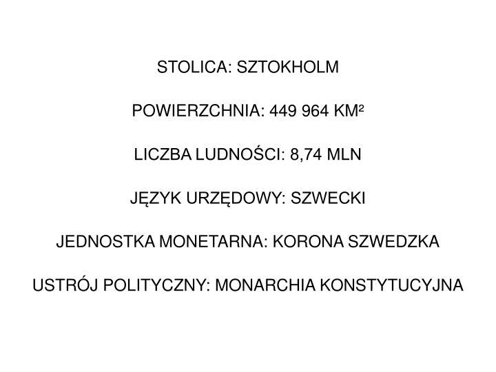 STOLICA: SZTOKHOLM