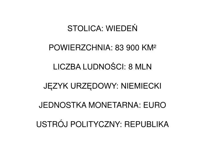 STOLICA: WIEDEŃ