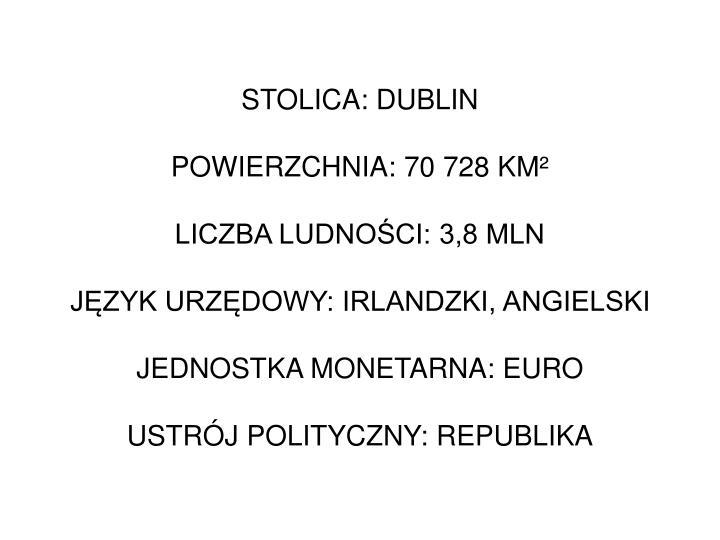 STOLICA: DUBLIN