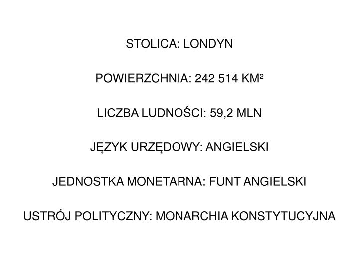 STOLICA: LONDYN