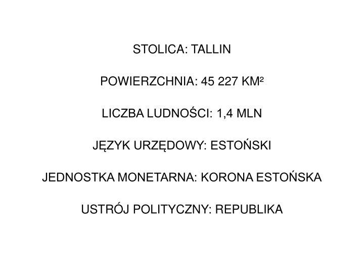 STOLICA: TALLIN