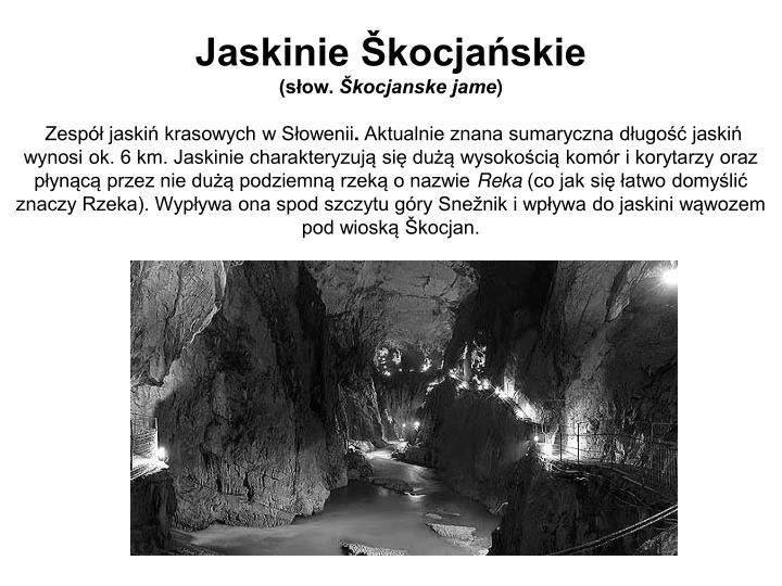 Jaskinie Škocjańskie