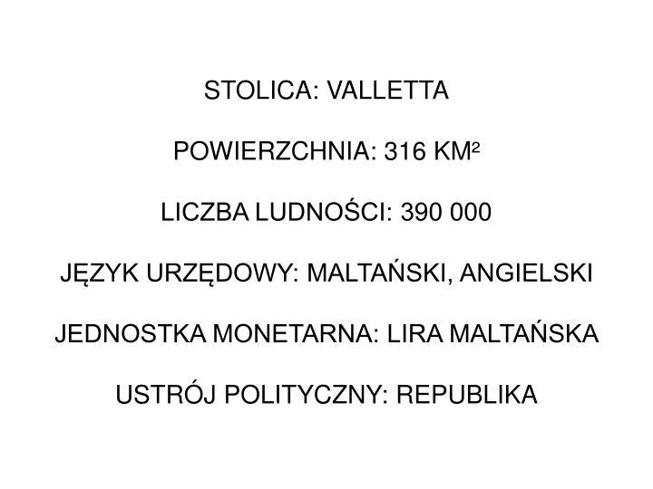 STOLICA: VALLETTA