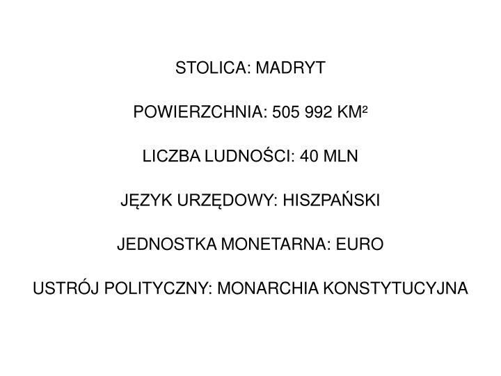STOLICA: MADRYT