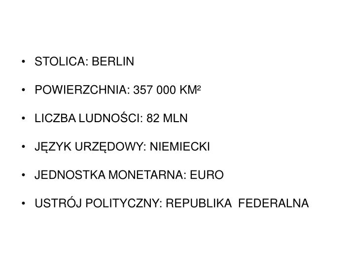 STOLICA: BERLIN