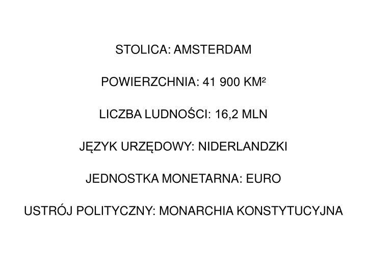 STOLICA: AMSTERDAM