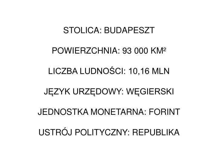 STOLICA: BUDAPESZT