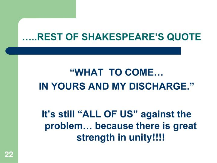 …..REST OF SHAKESPEARE'S QUOTE