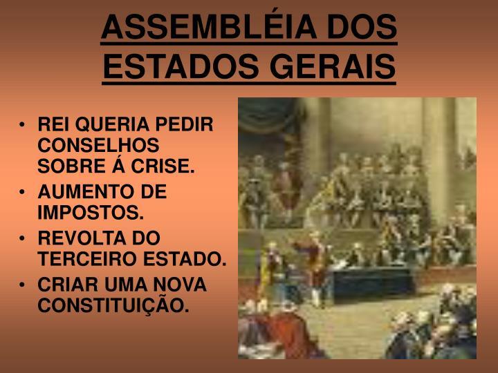ASSEMBLÉIA DOS ESTADOS GERAIS
