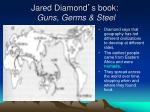jared diamond s book guns germs steel